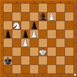 Sort har lige spillet a5. Hvor skal den hvide konge hen?